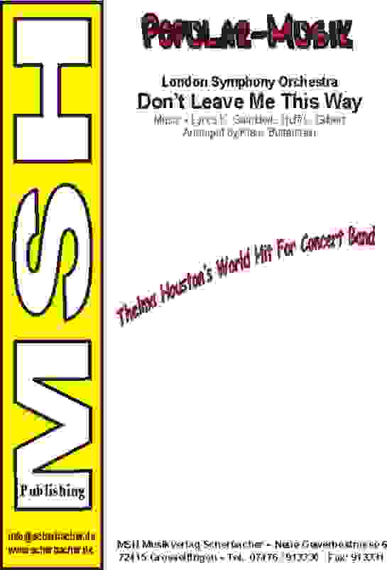 Cover DON'T LEAVE ME THIS WAY