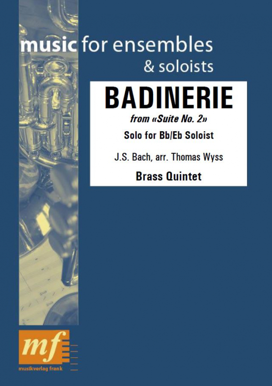 Cover BADINERIE FROM SUITE NO. 2
