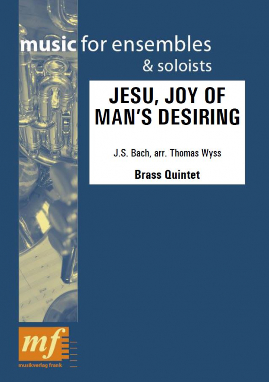 Cover JESU' JOY OF MAN'S DESIRING