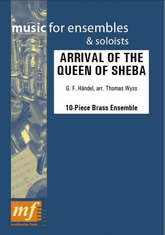 Cover ARRIVAL OF THE QUEEN OF SHEBA